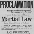 Broadside Declaring Major General John C. Frémont's Proclamation of Martial Law