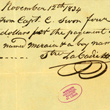 Receipt for Purchase of Meraia and Her Son Joseph for $450