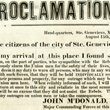 Major John McDonald's Proclamation