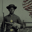Unidentified African American Soldier at Benton Barracks